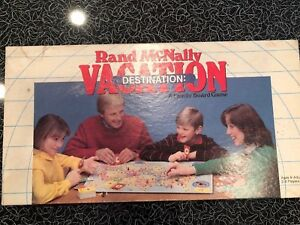 Details about Rand McNally Vacation Destination Family Board Game United  States Map Homeschool