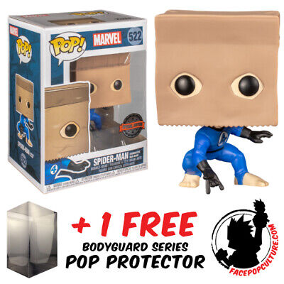 FUNKO POP MARVEL SPIDER-MAN BOMBASTIC BAG-MAN EXCLUSIVE FREE POP PROTECTOR