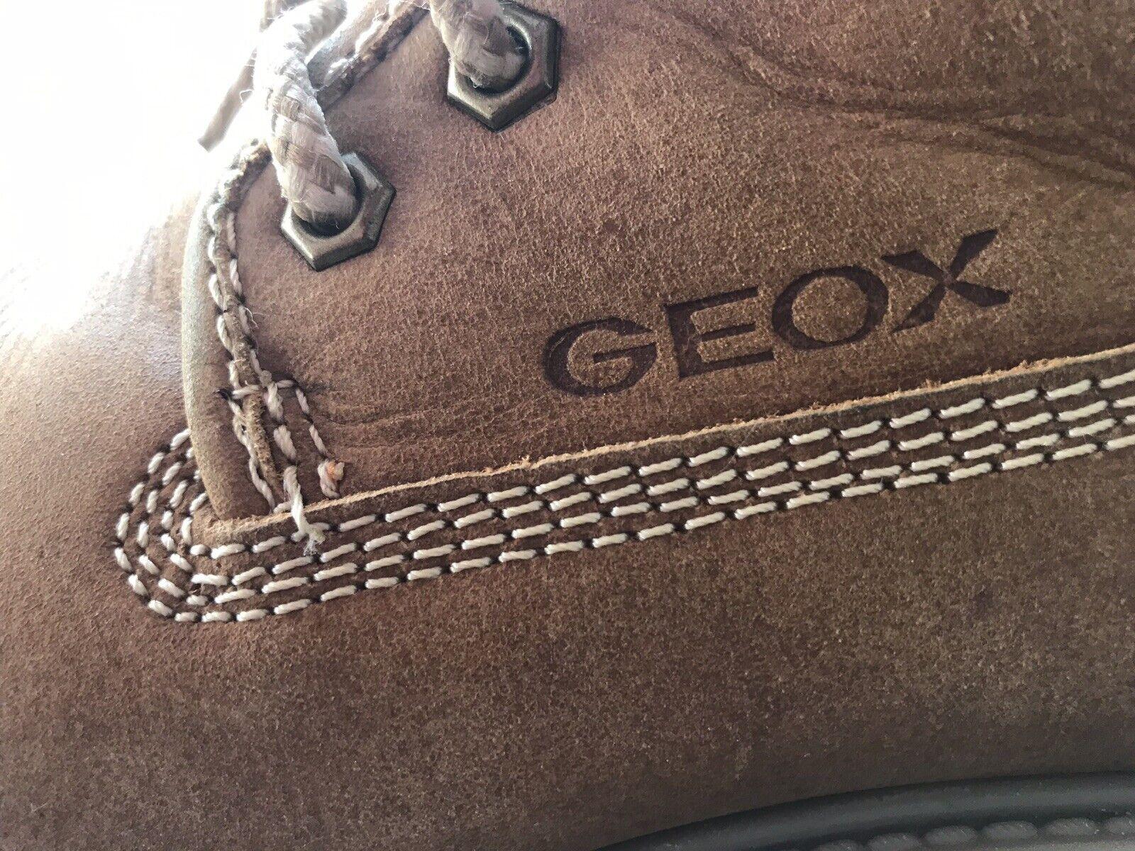 Geox Damen 38 Biker Stiefel Stiefeletten Schnürer Oiled Leather selten getragen