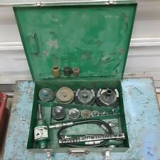 Greenlee 7310 Hydraulic Knockout Punch Driver Set With767 Complete Ed4u9030