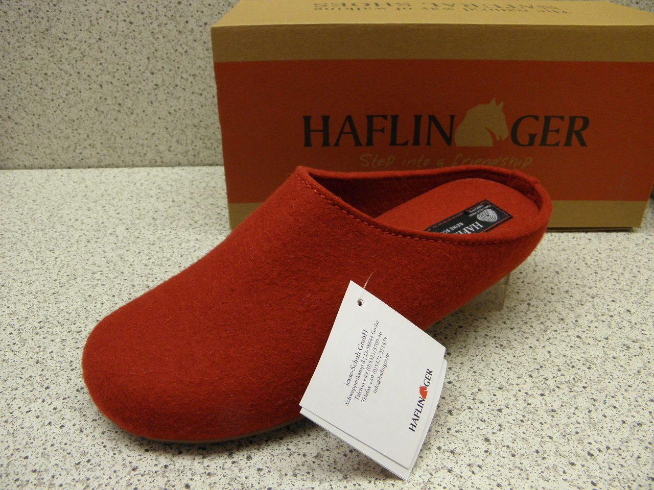 Haflinger ® réduit,  Everest Corpus  rouge + GRATUIT Premium-Chaussettes (h9)