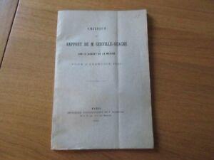 Critique Du Rapport De Gerville Reache Sur Budget Marine 1890 Vaisseaux Probleme