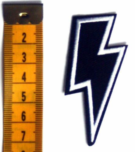 Thunder Lightning Patch Bolt Embroidered Iron Sew On Heavy Metal Biker Rock