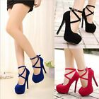 Fashion Women's Shoes Ankle Strap High Heels Shoes Wedding Platform Pumps Shoes