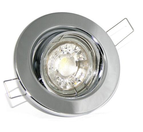 LED Einbaustrahler Einbauspot Einbau Spot Lampe 3W warmweiß rund Chrom K9222