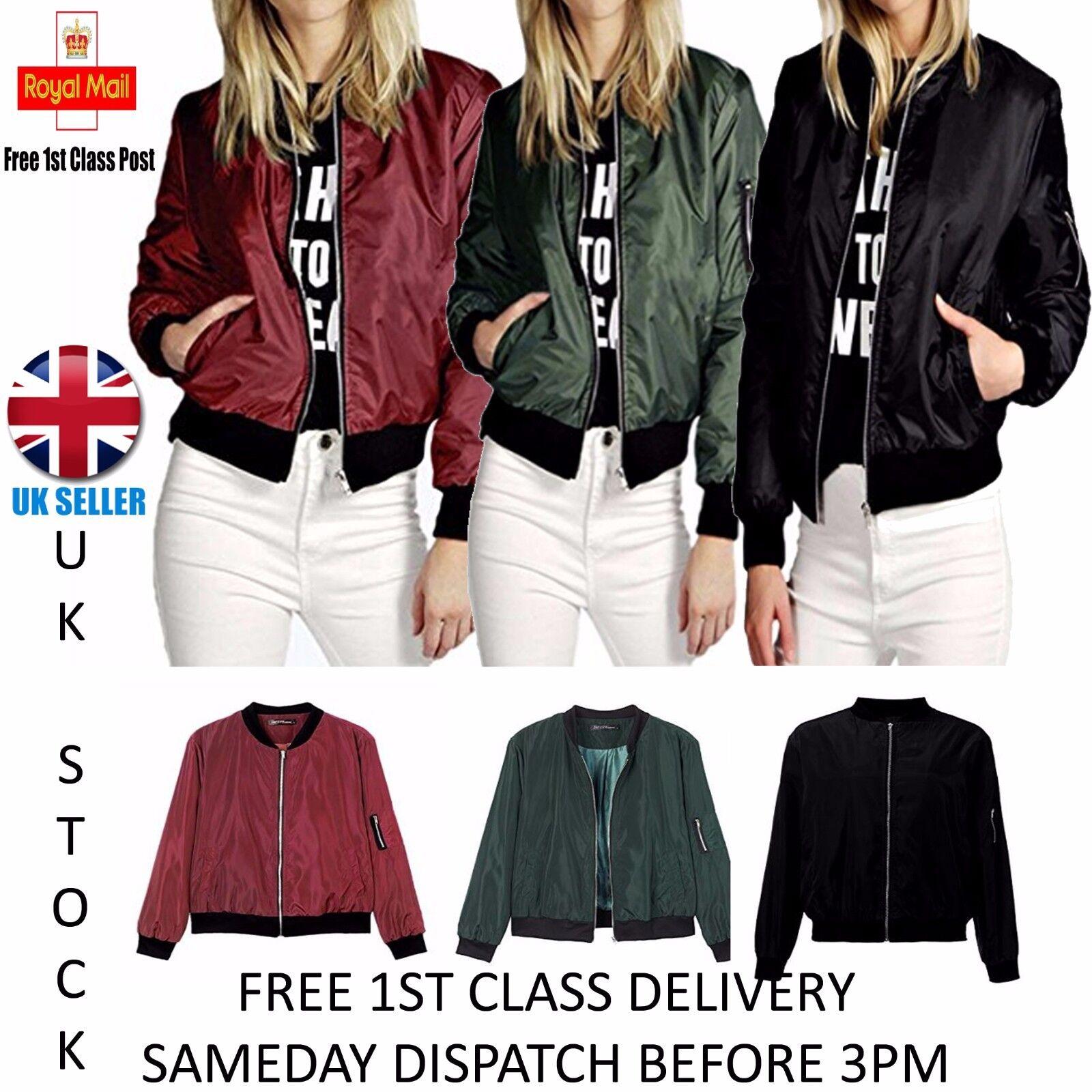 Ladies Harrington Classic Vintage Retro 1970/'s Bomber Jacket Sizes 8 to 12