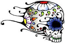 #15 Sugar Skull Sticker Day of the Dead Decal Rockabilly Rock Vintage