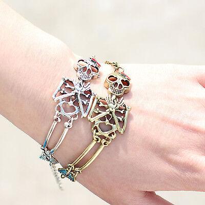 Fashion Charm Punk Skull Man Women Bangle Bracelet Wristband Cuff Gothic Jewelry