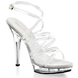 Clear Strappy Heels | Tsaa Heel
