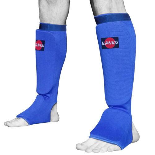 MMA Shin instep Protector Elastic Cloth Pad Sparring Gear KANKU New Karate
