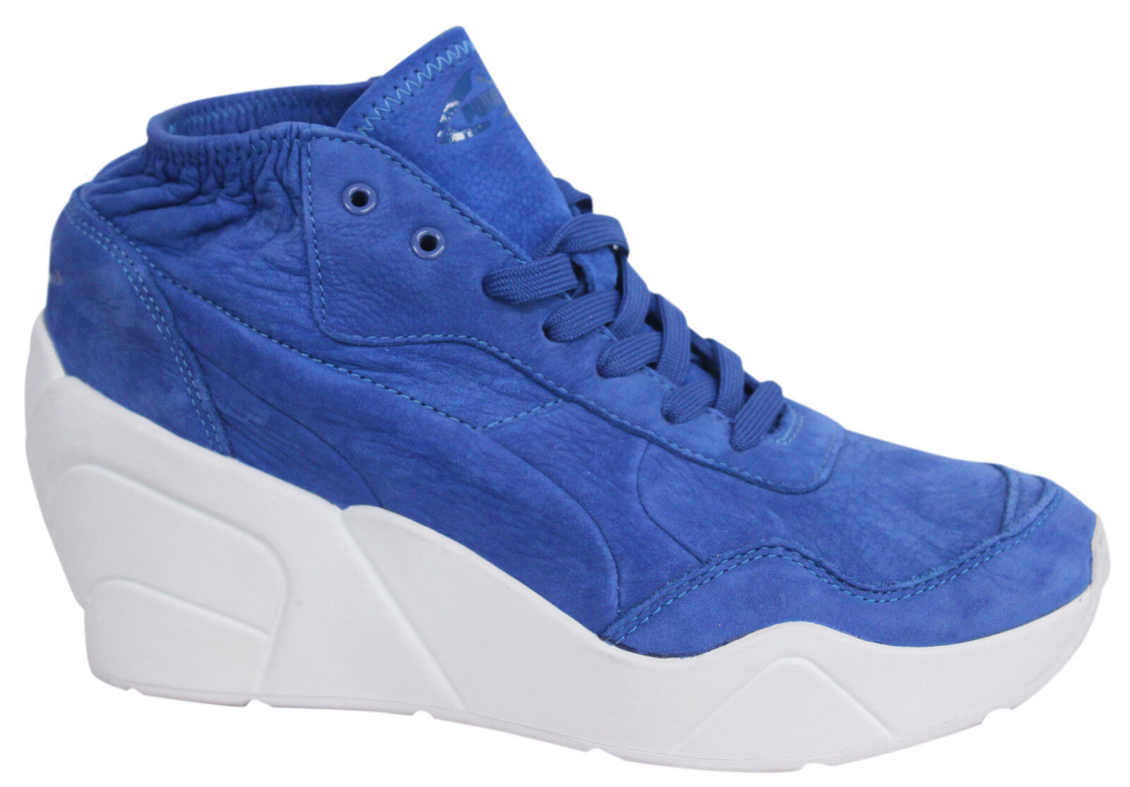 Puma mujer Lace Lace Lace Up Trinomic Wedge Leather Trainers zapatos 356378 02 P5  envío gratis