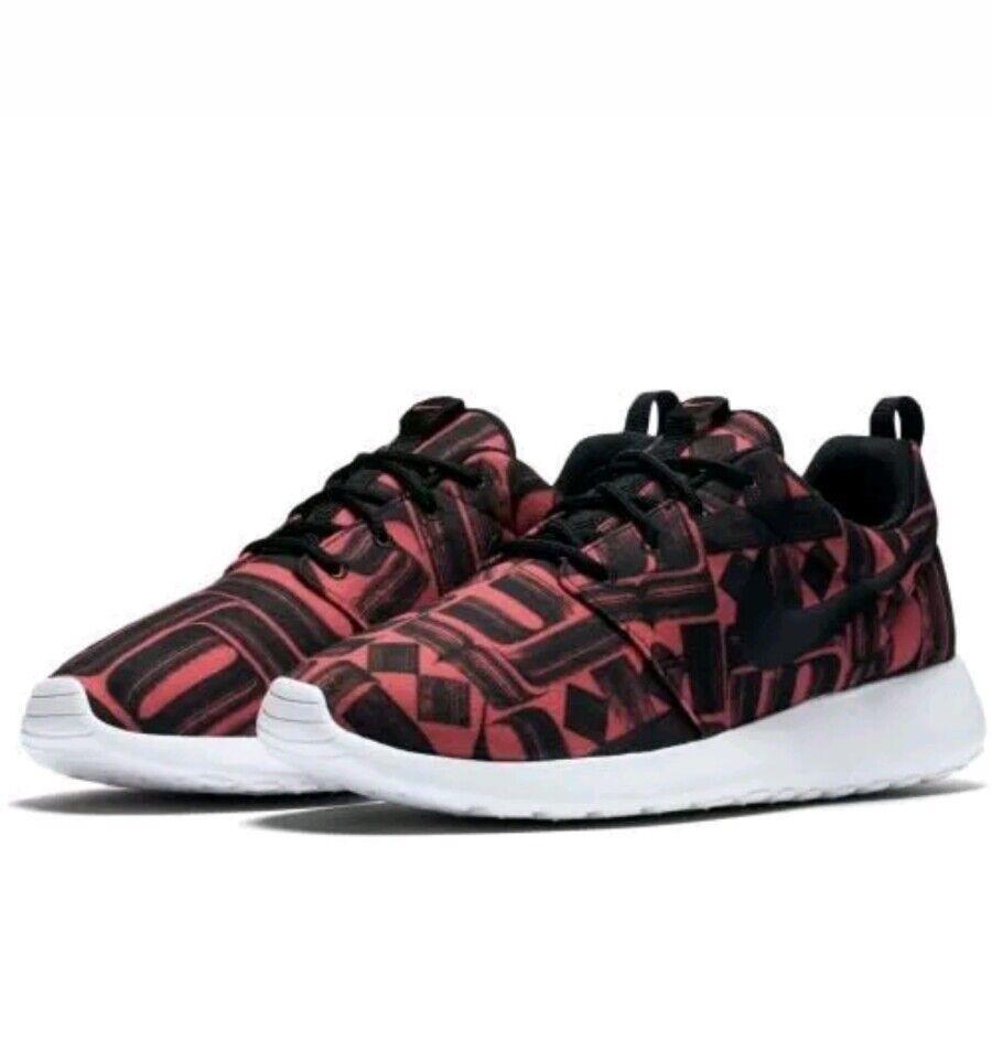 Nike roshe una dimensione di stampa 8 (844958 800) ember bagliore bianco nero le donne scarpe
