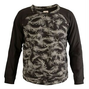 Retro-Billabong-High-Quality-Black-Grey-Camo-Long-Sleeved-Sweater-Top