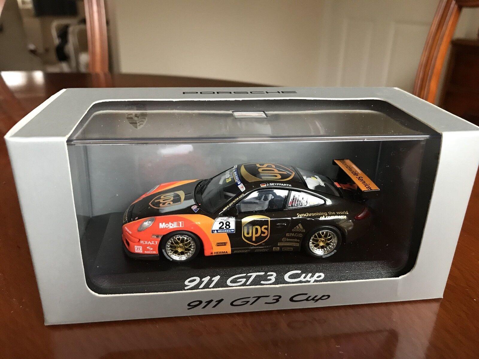 Rare Porsche Dealer 911 GT3 Cup (997). UPS Car For 2006.  1 43 Diecast