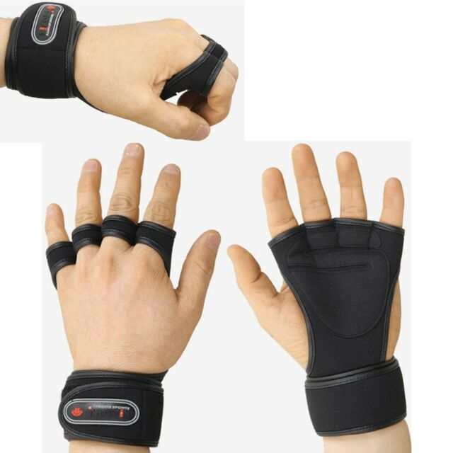 Health Gloves Wrist Wrap Workout Dumbbell Fitness Weight Gym Lifting Grip