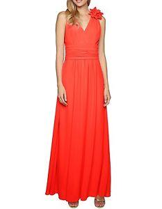 APART-Maxikleid-34-NEU-Abendkleid-Chiffonkleid-Damenkleid-orange-43071-300