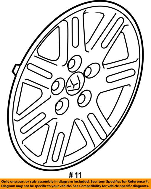 Buy Oem 2006 07 08 09 10 11 2011 Honda Civic 7 Spoke Wheel Cover Hub