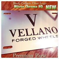 Vellano Forged Wheels Custom License Plate Carbon Logo Bentley Maserati Gmc-