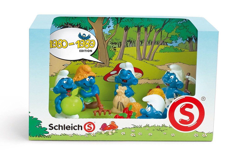 The Smurfs Decade 5 Minifiguren Satz : 1980 - 1989 Schleich 12576