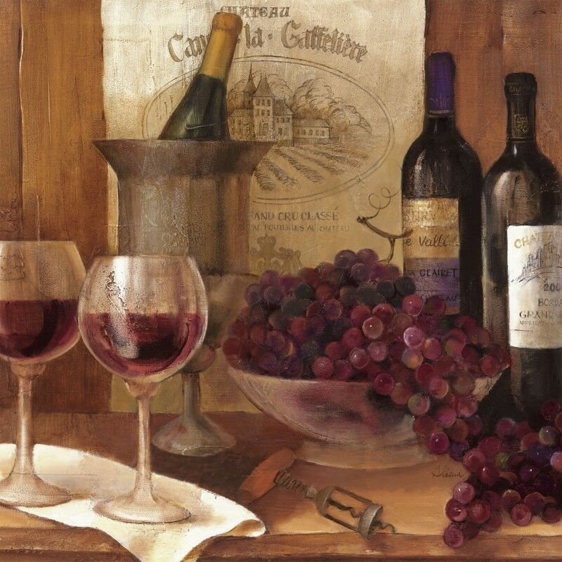 Poster oder Leinwand Bild Albena Hristova Getränke Wein Malerei Braun D1TQ