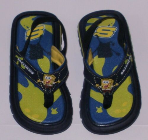 SKECHERS SPONGEBOB WAVES FLIP FLOPS Sz 5 ~ NIB