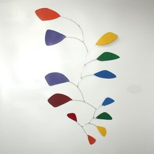 Abstract Modern Friendship Rainbow Hanging Mobile Painted Steel Museum New