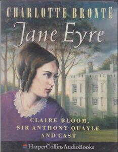 Jane-Eyre-Charlotte-Bronte-2-Cassette-Audio-Cast-Drama-Claire-Bloom-FASTPOST