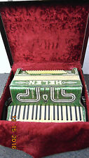 VINTAGE HELEN  ACCORDION ORIGINAL CASE GREEN