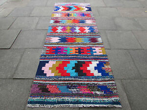 Old-Traditional-Hand-Made-Persian-Oriental-Kilim-Wool-Cotton-Colourful-198x110m