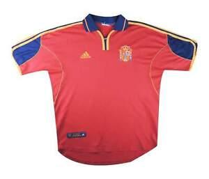 SPAGNA 1999-02 Authentic Home Shirt (eccellente) M SOCCER JERSEY