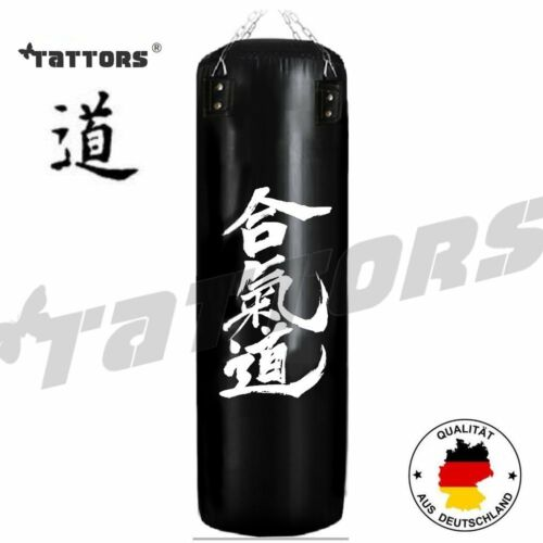Design BOXSACK SET TATTORS® Aikido Heqidao Karate Leder Schwarz Fighting MMA NEU