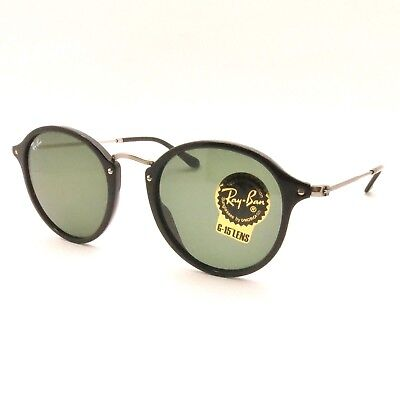 Ray Ban RB 2447 901 Black 52 G15 Green Authentic Sunglasses