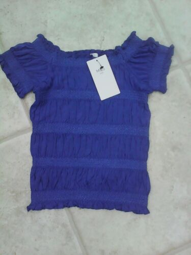 BNWT GIRL/'S PRETTY COBALT  BLUE  TOP  MARKS /& SPENCER AGE 3//4YRS 8//9 YEARS