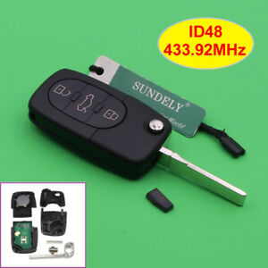 Remote-Transmitter-Key-Fob-3-Button-433-92MHz-for-Audi-A3-A4-A6-A8-4D0-837-231-A