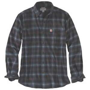 Carhartt-103314C-Rugged-Flex-Hamilton-Plaid-Flannel-Shirt-Dark-Slate-433