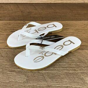 Bebe Girls White Sandals Flip Flops