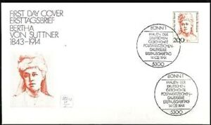 Frg-1991-Bertha-By-Suttner-FDC-Der-No-1498-With-Bonner-Sonderstempeln-20-04