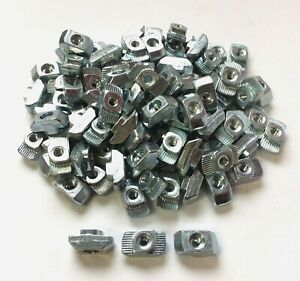 Lot-of-100-Bosch-Rexroth-3842530281-10mm-T-Nut-Fasteners-M4-Thread-for-Extrusion