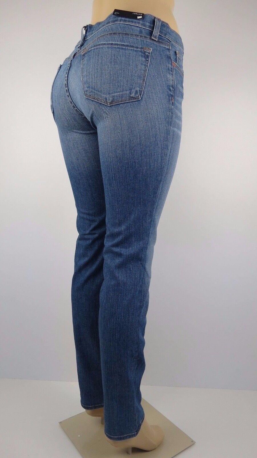 NWT J BRAND WOMENS JEANS STRAIGHT LEG, RAIL, BLISS, Size 25,Retail  198