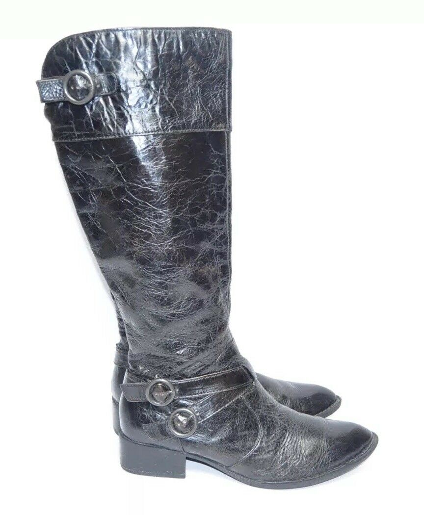 Womens BORN Knee High Boots Size 9.5M US Black Leather