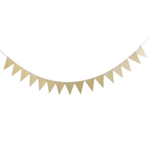 Pastel Glitter Pink//Gold//White Flag banner Bunting Garland Party Banner Decor UK