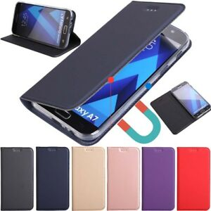 best service 5e066 e61df Details about Slim Magnetic Wallet Leather Flip Case Cover For iPhone X XS  Samsung S9 S8 J3 J5
