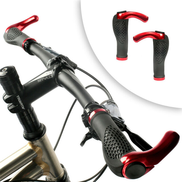 1Pair Mountain Bike Bicycle Handlebar Rubber Cycling Lock-On Bar Ends Grips US