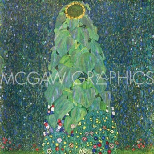 """THE SUNFLOWER ART PRINT POSTER 12/"""" X 12/"""" 1906-1907 1021 KLIMT GUSTAV C"""