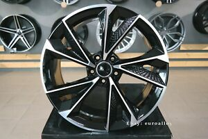 New-19-inch-5x112-RS7-design-black-polished-wheels-for-Audi-Mercedes-VW