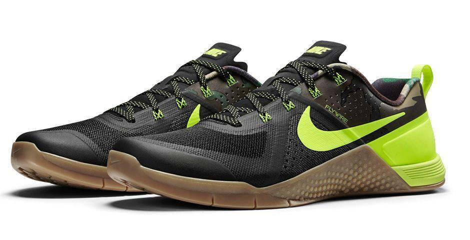 Nike Metcon 1 Amplify Amp Crossfit Camo New SZ 15 QS Nero Gum Volt 725183-072