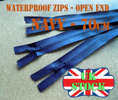 Waterproof Zip Open End Zip No 5 Navy Zipper 70cm Waterproof Zips Plastic Zip