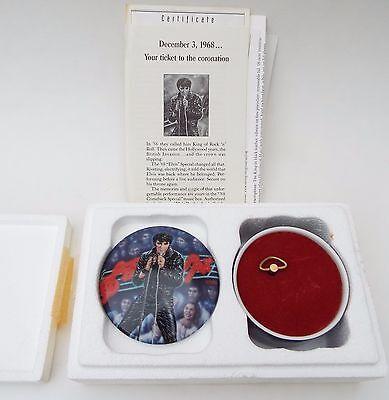 "Elvis Presley Music Box"" 68 Comeback Special"" # 1804A Ardleigh 1992 Original"