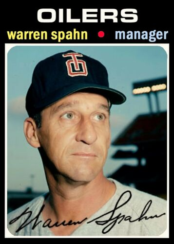 WARREN SPAHN 71 ACEO ART CARD ## BUY 5 GET 1 FREE ### or 30/% OFF 12 OR MORE