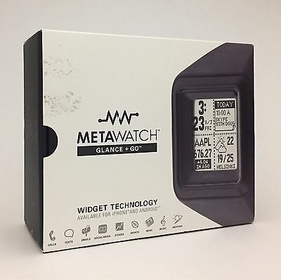 MetaWatch STRATA Smartwatch Stealth Black MW3007
